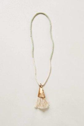 Anthropologie Conch Tassel Necklace