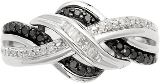 Black Diamond FINE JEWELRY CT. T.W. White & Color-Enhanced Weave Ring