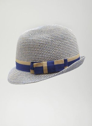 David & Young Weaved Two Tone Banded Bucket Hat