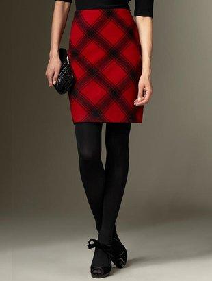 Talbots Windowpane plaid skirt