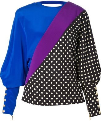 Ungaro polka dot silk blouse