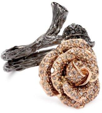 Black Diamond Burgeon Brown and Rose Ring