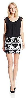 As U Wish Juniors Tank Sequin-Skirt Combo Dress
