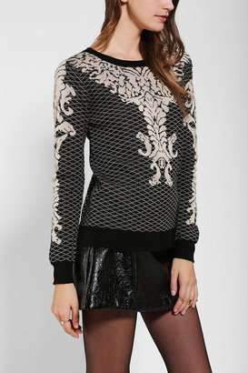 Urban Outfitters Lucca Couture Baroque Intarsia Sweater
