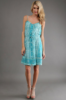 WGACA What Goes Around Comes Around Bandelier Dress in Turquoise