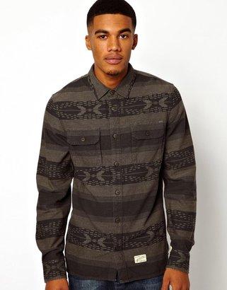 Vans Hoover Shirt In Blanket Stripe
