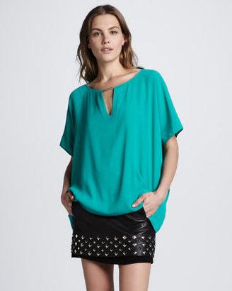 Diane von Furstenberg Elley Studded Leather Skirt