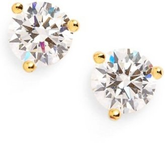 Women's Nordstrom Precious Metal Plated 1Ct Tw Cubic Zirconia Earrings $42 thestylecure.com