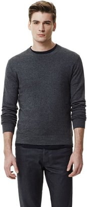 Theory Leiman C Pullover in Cotton Cashmere