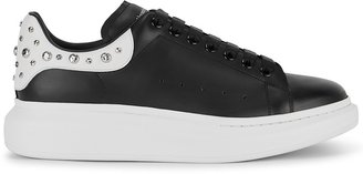 Alexander McQueen Larry Black Studded Leather Sneakers