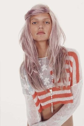 Wildfox Couture Born on the 4th of July Cropped Sweater in Clean White