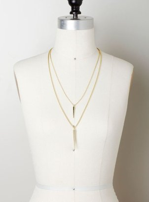 Stephan & Co Spike Pendants Layered Necklace