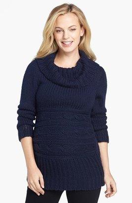 Olian Cowl Neck Maternity Sweater