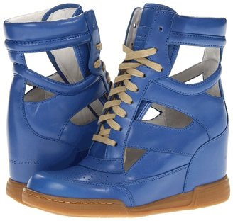 Marc by Marc Jacobs Cutout Sneaker Wedge (Vacchetta Maine Blue/Cotton Lace) - Footwear