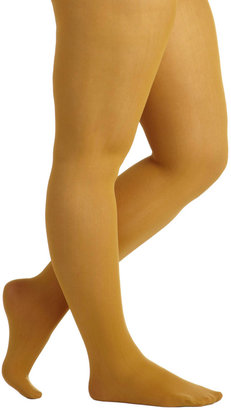Look From London Seize the Day Tights in Ochre