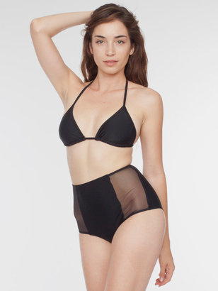 American Apparel Micro-Mesh Nylon Tricot High-Waist Brief