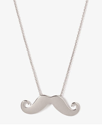 Forever 21 Mustache Charm Necklace
