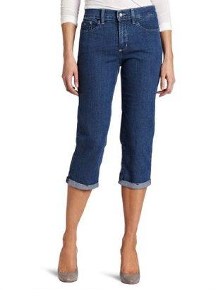 NYDJ Women's Petite Fiona Roll Cuff Crop Jean