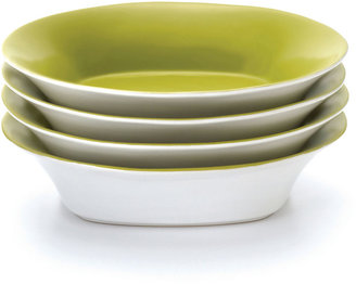 Rachael Ray Round & Square Set of 4 Soup Bowls