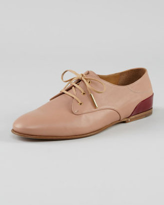 Chloé Lace-Up Oxford, Nude