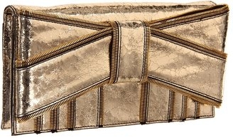 Z Spoke Zac Posen Shirley Clutch (Gold) - Bags and Luggage