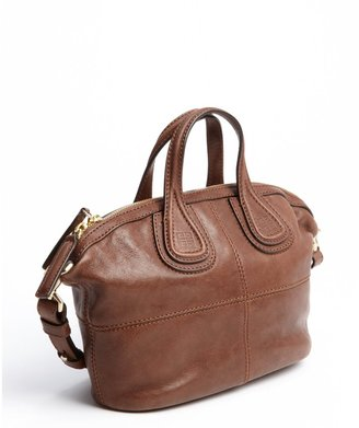 Givenchy brown leather logo emblem small 'Nightingale' shoulder bag