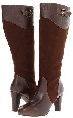 Annie Rosalie (Brown/Brown Velvet Suede/Brown Croc) - Footwear