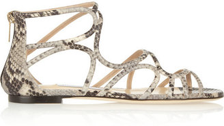 Jimmy Choo Snake-effect leather sandals