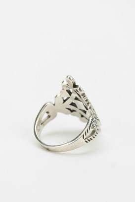 Urban Outfitters Vintage Marcasite Filigree Shield Ring