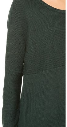 Helmut Lang HELMUT Plush Scoop Neck Sweater