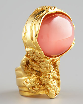 Yves Saint Laurent Pink-Cabochon Arty Ring