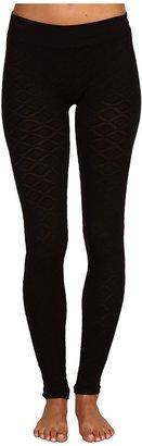 Brigitte Bailey Maria Diamond Print Legging (Black) - Apparel
