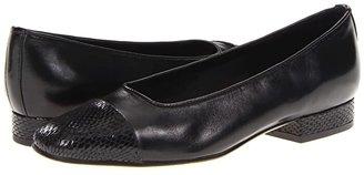 VANELi FC-313 Squama (Black Nappa/Squama Print) Women's Dress Flat Shoes