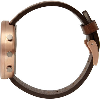 Uniform Wares 302 Series Chronograph PVD Rose Gold Wristwatch