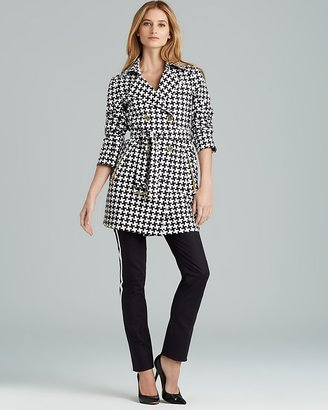 MICHAEL Michael Kors Houndstooth Trench Coat