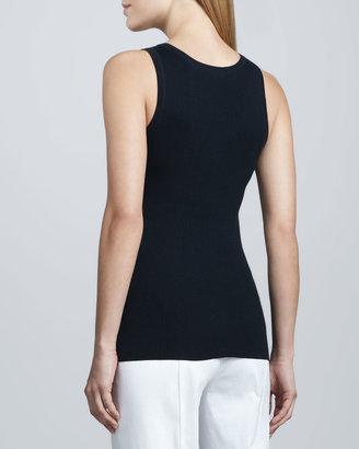 Neiman Marcus Combed Cotton-Blend Tank
