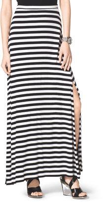 Michael Kors Striped Slit Maxi Skirt
