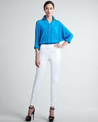 Ralph Lauren Black Label Farren Cotton Sateen Pants, White