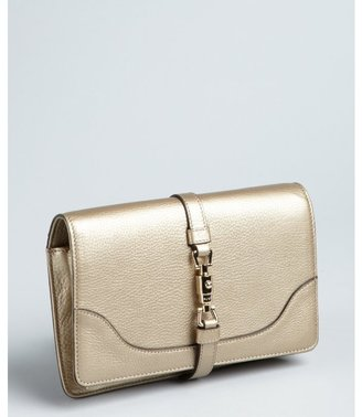 Gucci pewter textured leather 'Broadway' convertible clutch