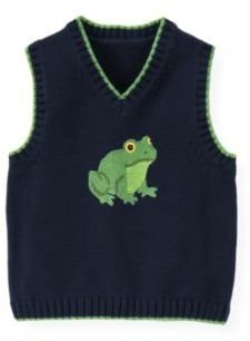 Janie and Jack Frog Sweater Vest