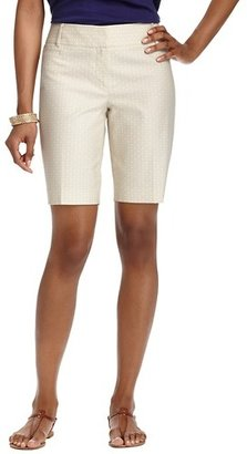"""LOFT Julie Geo Print Stretch Cotton Walking Shorts with 10"""" Inseam"""