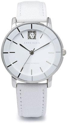 Anne Klein Lion Logo Round Strap Watch