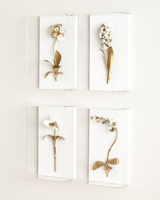 Horchow Tommy Mitchell Gilded Flower Studies