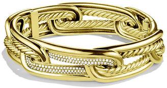 David Yurman Labyrinth Link Bracelet with Diamonds in Gold