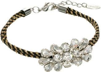 Orelia Diamante Cord Friendship Bracelet