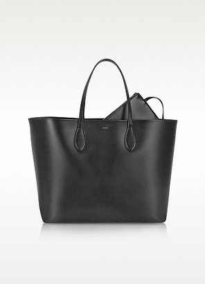 Rochas Black Leather Tote