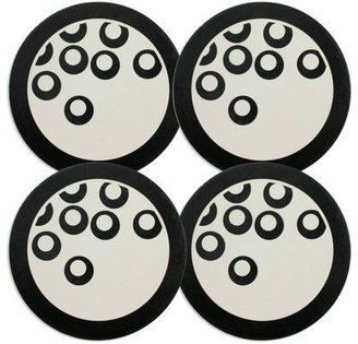 Mikasa Circle Chic Black Coasters, Set of 4