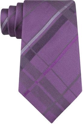 Kenneth Cole NEW YORK Plaid Silk Tie