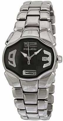 Police Women's PL-12896BS/02M Angel Black Dial Stainless Steel Date Watch