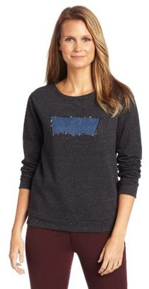 Levi's Women's Chambray Applique Bat Wing Pullover